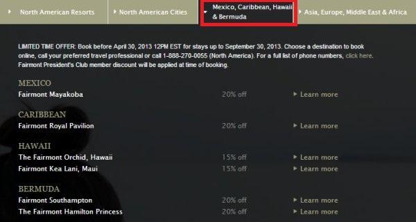 fairmont-summer-offer-mexico-caribbean-bermuda