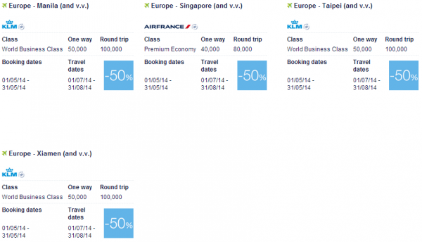 Air France-KLM Promo Awards May 2014 Asia Pacific 2