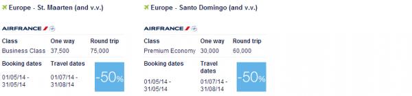 Air France-KLM Promo Awards May 2014 Caribbean & Indian Ocean 2