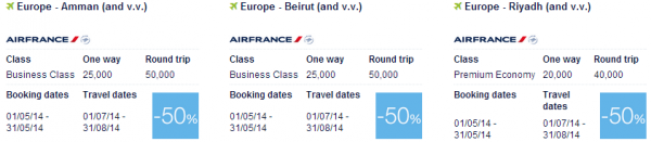 Air France-KLM Promo Awards May 2014 Middle East 1