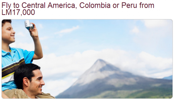 Avianca LifeMiles US To Central America Economy Award Sale