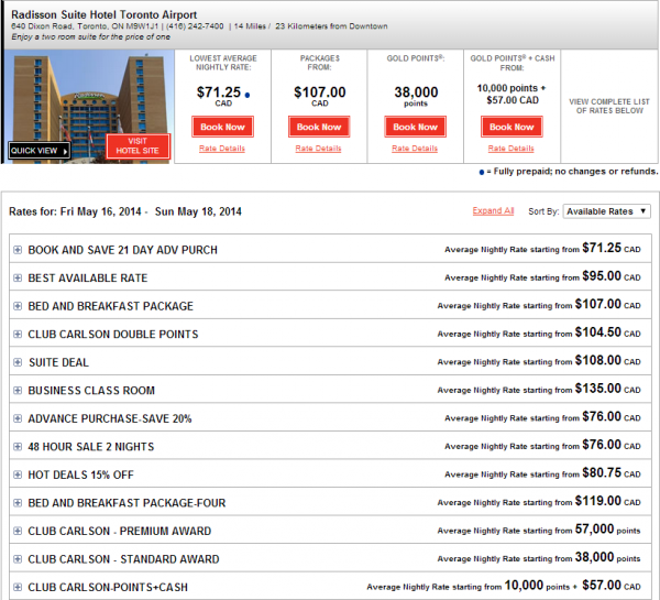 Club Carlson Rewards Your Weekend 10,000 Bonus Points Offer Rate Search Box All Rates
