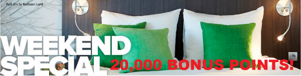 Club Carlson Weekend Special 20,000 Bonus Points 2 Nights Stay April 1 May 30 2014