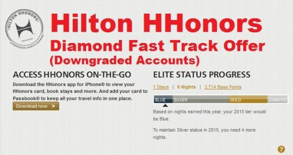 Hilton HHonors Diamond Fast Track