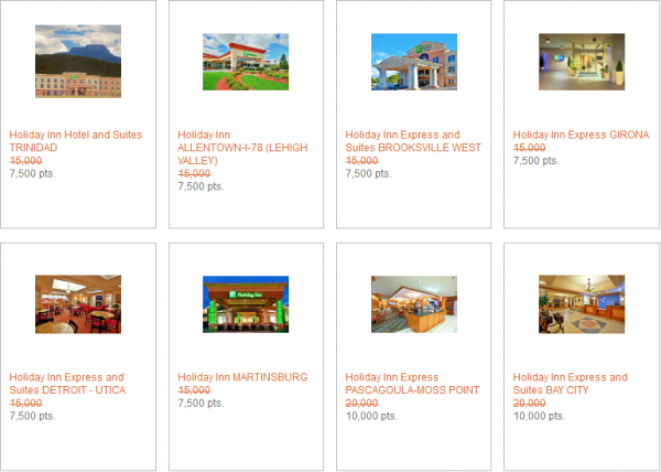 IHG Rewards Club Last Minute Reward Nights May 2014 2