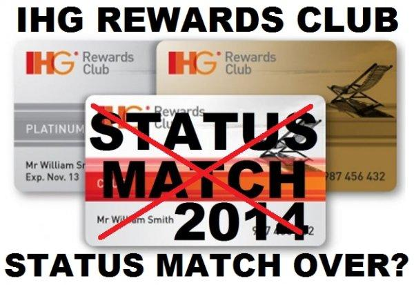 IHG Rewards Club Status Match Update 2014