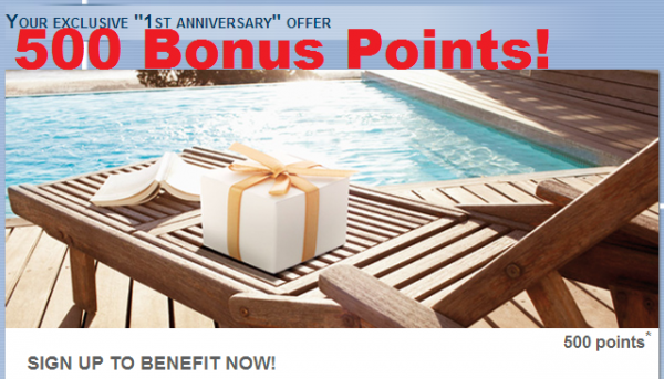 Le Club Accorhotels 500 Bonus Points