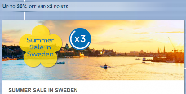 Le Club Accorhotels Sweden Summer Offer Triple Points