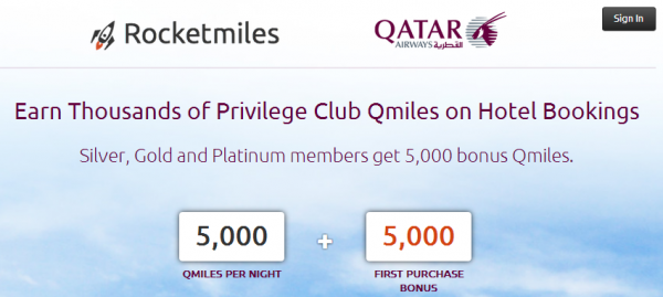 Rocketmiles Qatar Airways