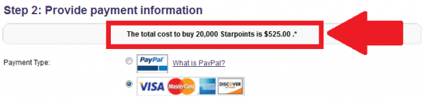 SPG Buy Gift Starpoints Get Up To 25 Percent Bonus Price