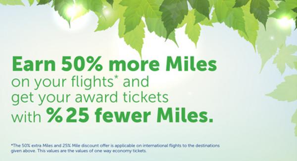 Turkish Airlines Miles&Smiles Bonus & Discount Destinations May 2014