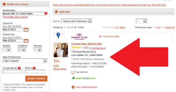 Whine Wednesdays Hotels Misrepresenting Location Crowne Plaza Beverly Hills