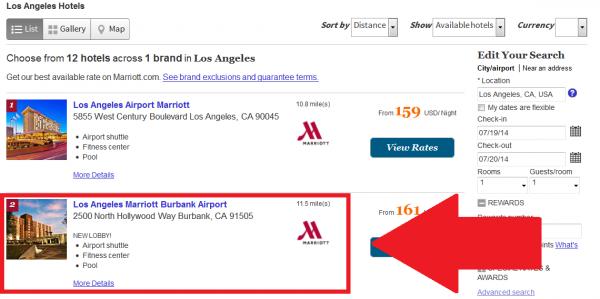 Whine Wednesdays Hotels Misrepresenting Location Marriott Los Angeles Burbank Airport