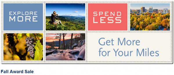 Alaska Airlines Fall Award Sale