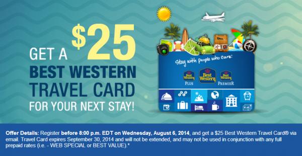 Best Western Rewards $25 Travel Card