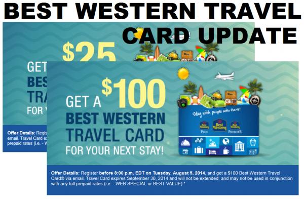 Best Western Travel Card Update