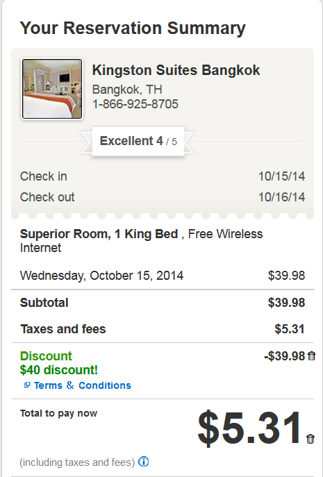 Hotels.com Sale 4 Stars