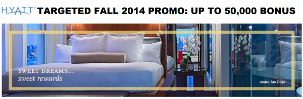 Hyatt Gold Passport Fall 2014 Promotion