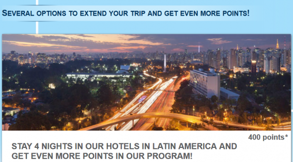 Le Club Accohotels Latin America Offer 400 Bonus Points