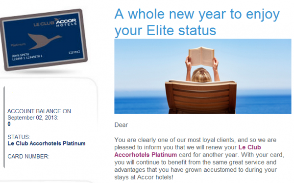Le Club Accorhotels Platinum Renewal