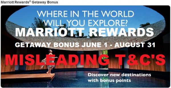 Marriott Getaway Bonus Misleading