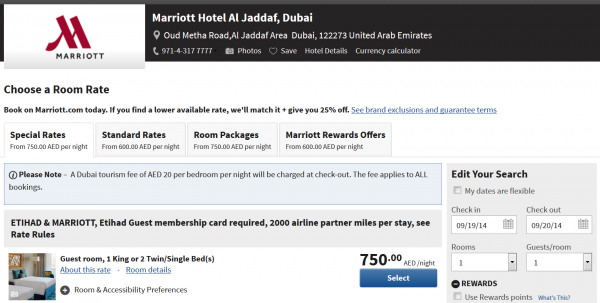 Marriott Rewards Etihad Guest Marriott Hotel Al Jaddaf