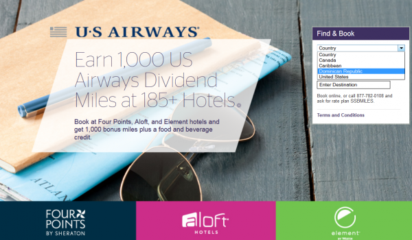 Starwood Preferred Guest SPG US Airways Dividend Miles Triple Miles Offer Fall 2014