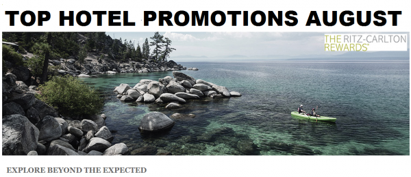 Top Hotel Promotions August