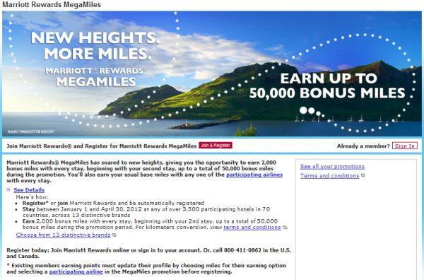 Marriott Rewards MegaMiles