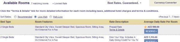 SPG Standard Room Sheraton Resort Dubai