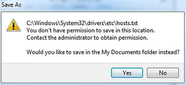hosts-no-permission