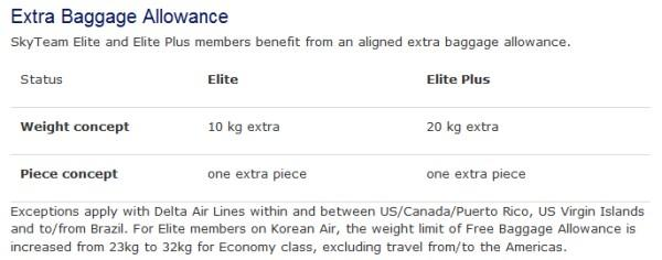 skyteam-elite-elite-plus-baggage-benefits