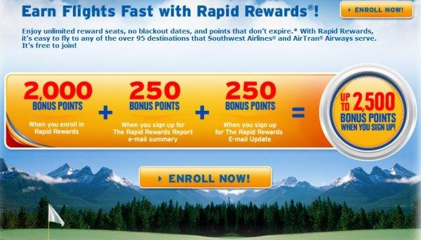 southwest-rapid-rewards-enrollent-bonus