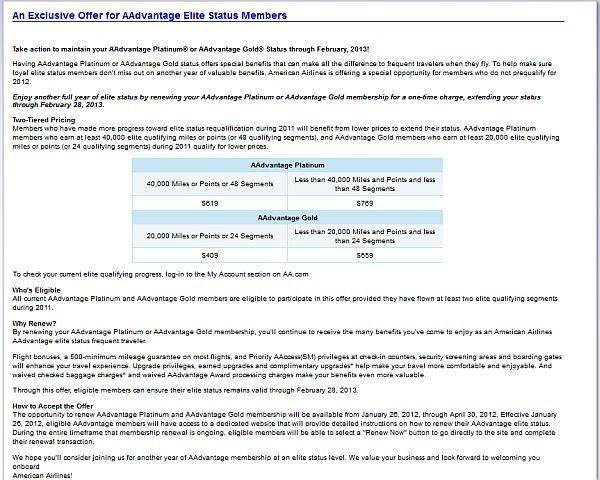 american-airlines-offer-buy-back-status
