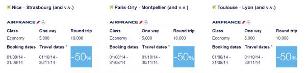 Air France-KLM Flying Blue Promo Awards Europe 3
