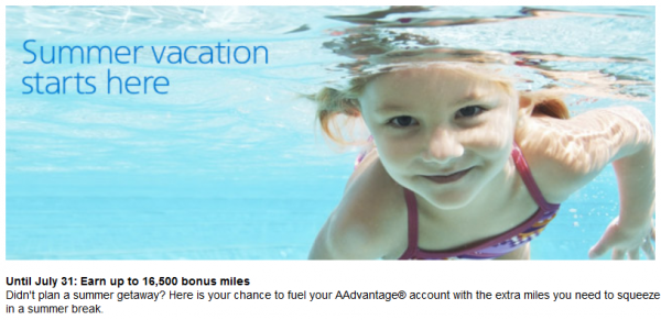 American Airlines AAdvantage Buy Miles July 2014 Special