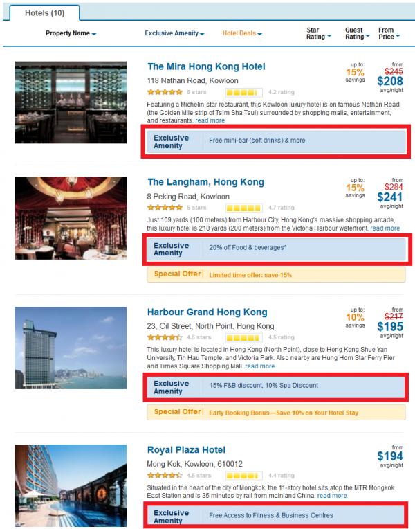 Expedia+ rewards Vip Access Hotels Hong Kong U