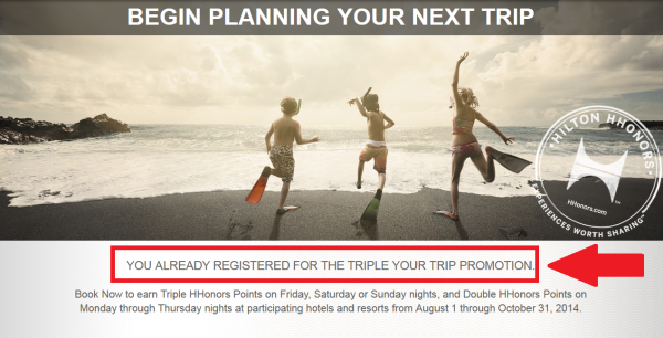 Hilton HHonors Triple Your Trip 2014 Registration