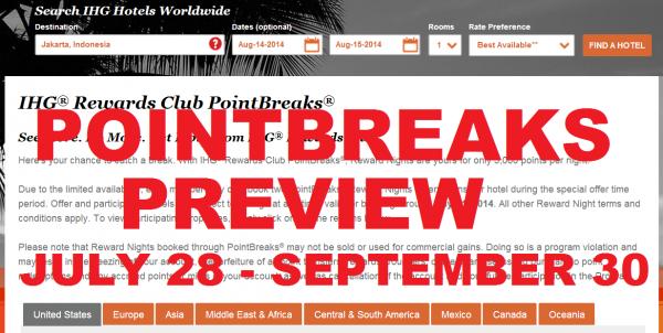 IHG Rewards Club PointBreaks Sneak Peek