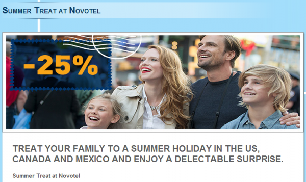 Le Club Accorhotels Novotel North America 25 Off + Double Points Offer