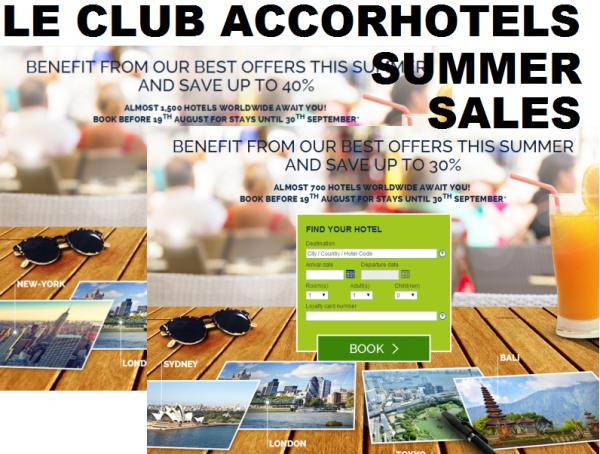 Le Club Accorhotels Summer Sales