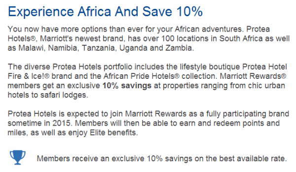Marriott Rewards Protea text
