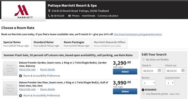Marriott Thailand 3-Day Sale Pattaya Marriott