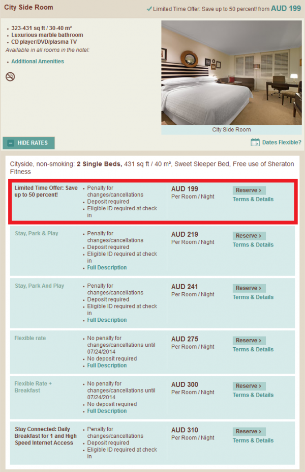 Starwood Asia Pacific Red Hot Deal All Of Asia Is Yours Sales July 2014 Sheraton On The Park