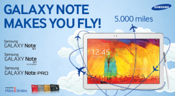 Turkish Airlines Miles&Smiles Galaxy Note 5,000 Miles Campaign