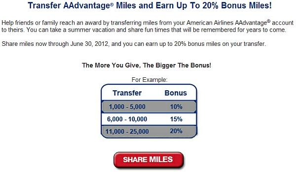 american-airlines-share-miles-offer-bonus