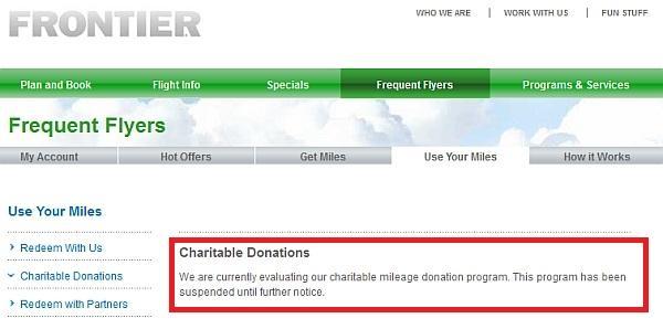frontier-donation-suspension