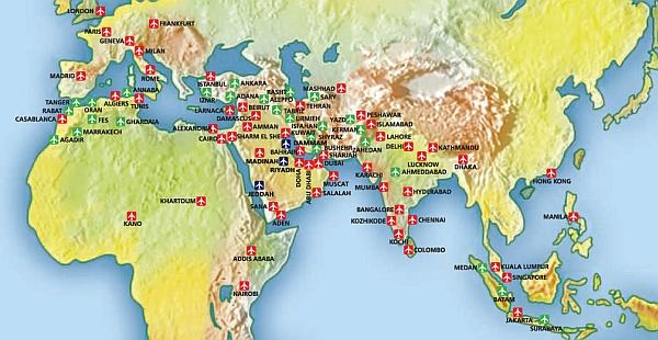 skyteam-saudia-route-map