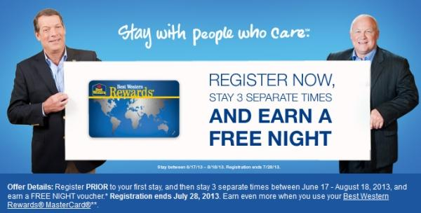 best-western-summer-2013-free-night-offer