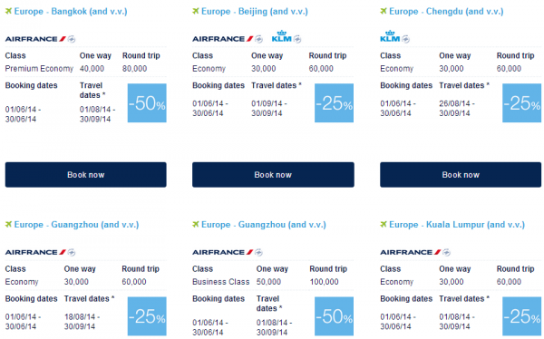 Air France-KLM Flying Blue Promo Awards June 2014 Asia Pacific 1